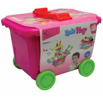Kofer Trolley kuhinja rozi