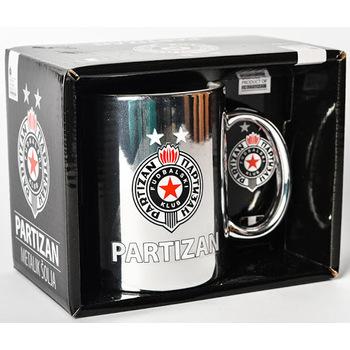 Šolja keramička Partizan metalik u kutiji