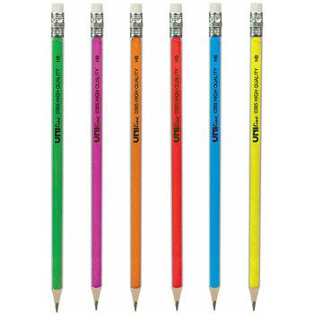 Grafitna olovka HB 1/12 U Neon sa gumicom