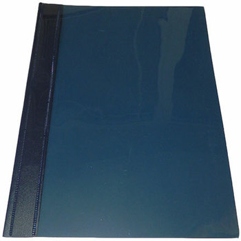 Fascikla PVC A4 sa mehanizmom tamno plava