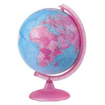 Globus 25cm svetleći pink boje