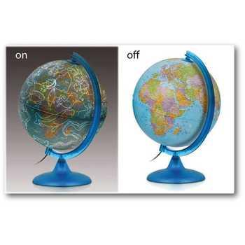 Globus 25cm  DAN-NOĆ svetleći
